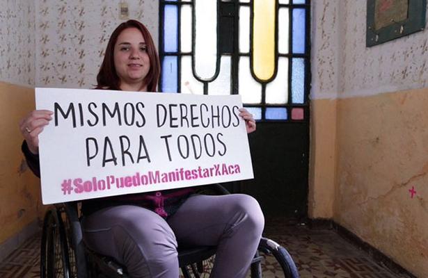 Igualdad para personas con discapacidad piden en el Día de la Mujer