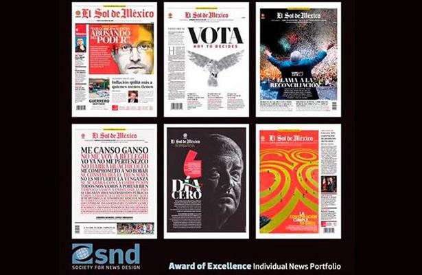 Otorgan a El Sol de México el Premio a la Excelencia de la Society for News Design