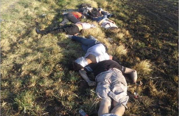 Abandonan los cuerpos de seis hombres y una mujer en San Diego de Alejandría