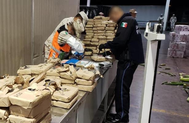 Aseguran 246 kilogramos de diferentes drogas ocultas en cargamento de verdura