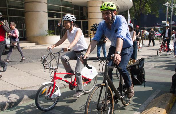 Resultado de imagen para Sheinbaum anuncia inversión histórica de 251 mdp para movilidad en bici