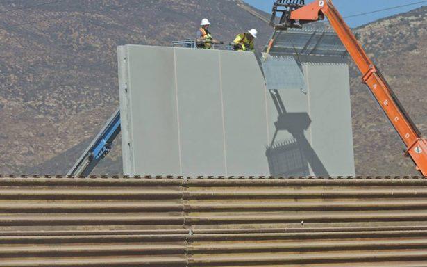 Prototipos del muro estarán acabados a fin de mes