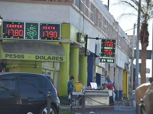 El dólar en Mexicali