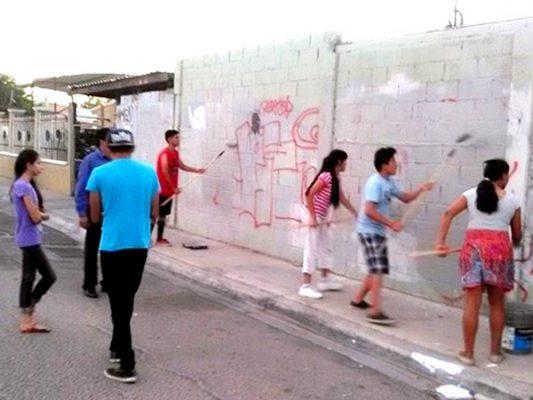 Recuperan jóvenes espacios en Palaco