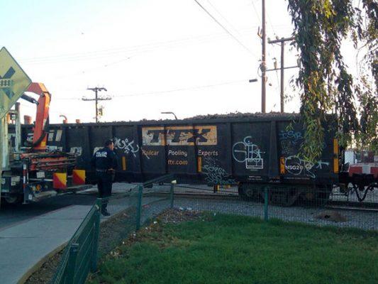Varan vagones del tren en Palaco