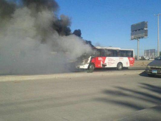Arde camión de la ruta Los Naranjos