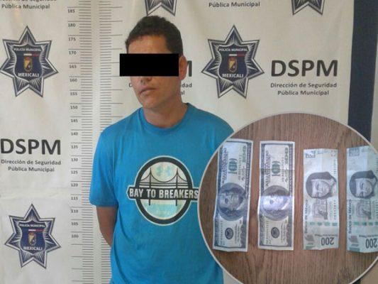 Detenido por portación de dinero falso