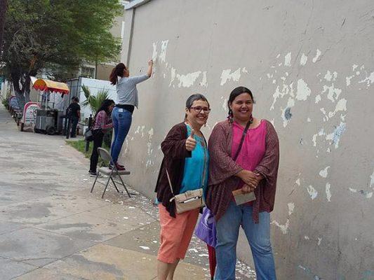 Inician mural contra la violencia de género