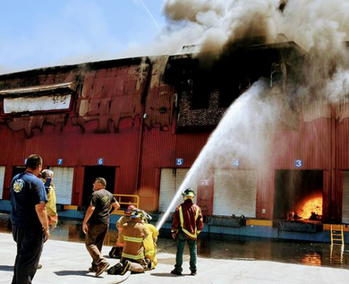 Gigantesco incendio  en el parque Marán