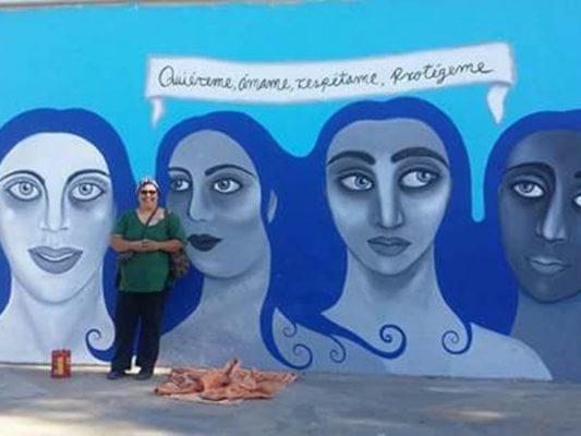 "Presentan mural ""Quiéreme, ámame, respétame, protégeme"""
