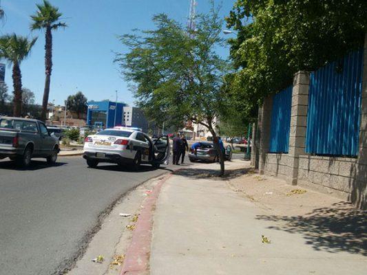 Ciclista accidentado en Anáhuac y Lázaro Cárdenas