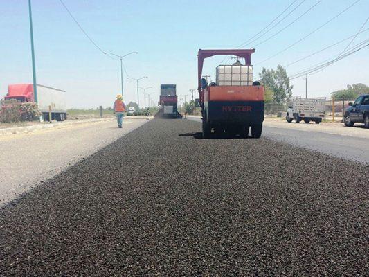 Avanza GobBC en obras de reencarpetado en Mexicali