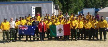 Brigadistas de BC en pie de lucha contra incendios