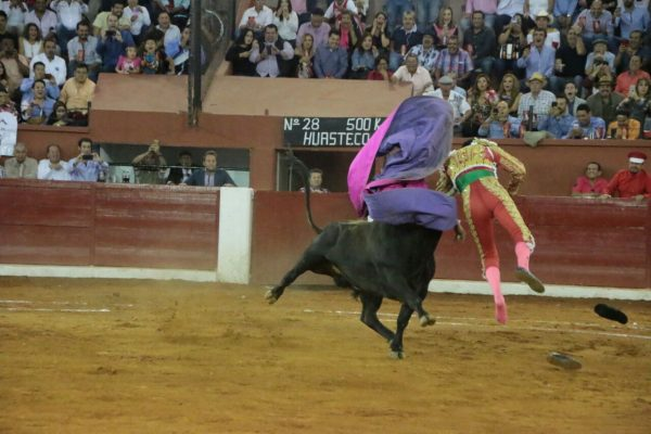 El torero Sergio Flores recibe aparatosa cornada