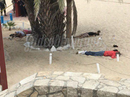 Balean a 3 personas en playa de Los Cabos