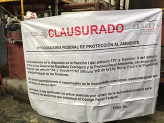 Clausura Interpol empresa en Baja California por mal manejo de residuos peligrosos