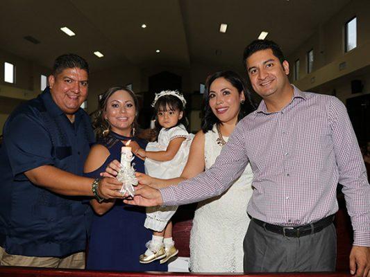 Bárbara Núñez fue bautizada
