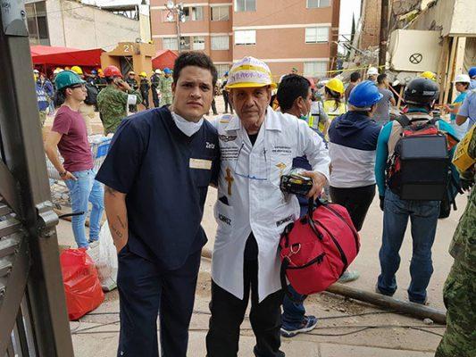 Médico mexicalense presta ayuda también