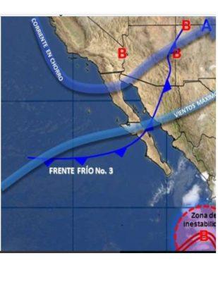 Oleada de frío registra 1.9 grados en Baja California
