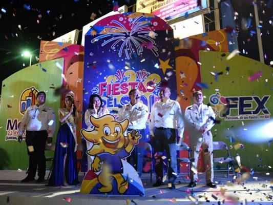 Reporta alcalde más de 450 mil entradas a las Fiestas del Sol 2017