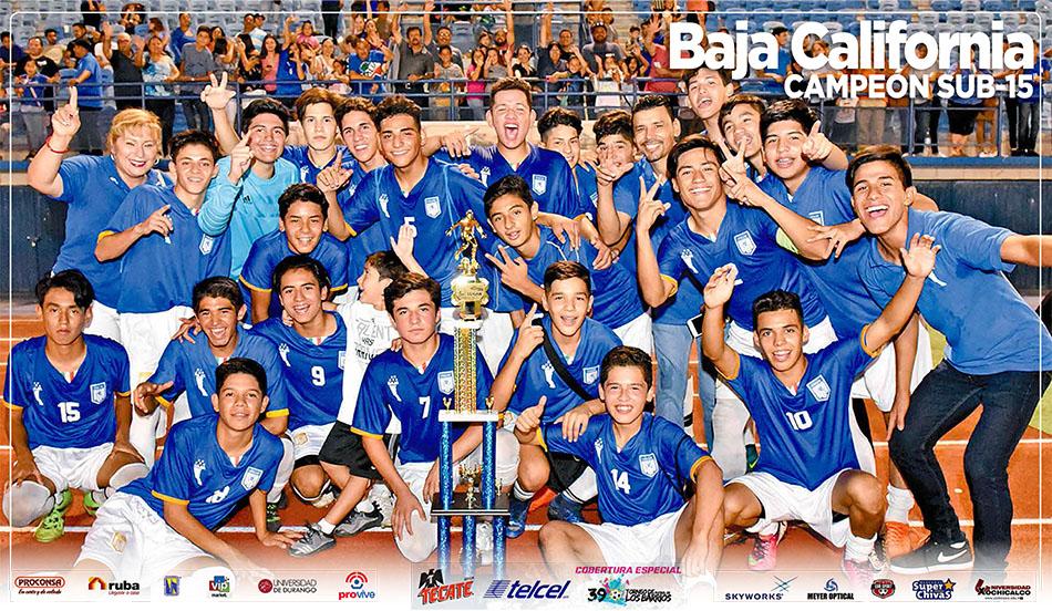 "Poster Campeón Categoria Sub 15 ""Baja California"""