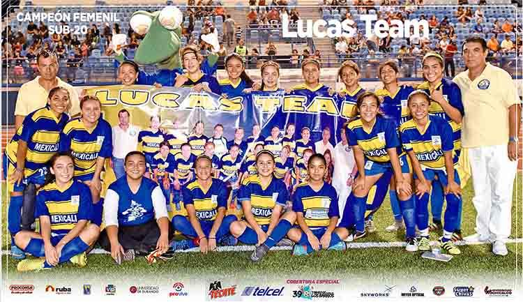 "Poster Campeón Categoría Femenil Sub-20 ""Lucas Team"""