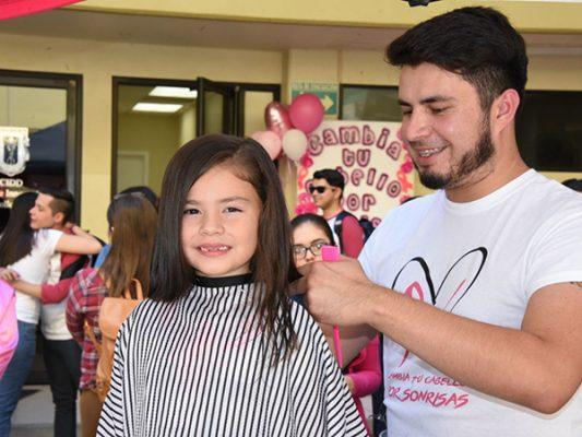 Brooke regaló su cabello a mujeres con cáncer
