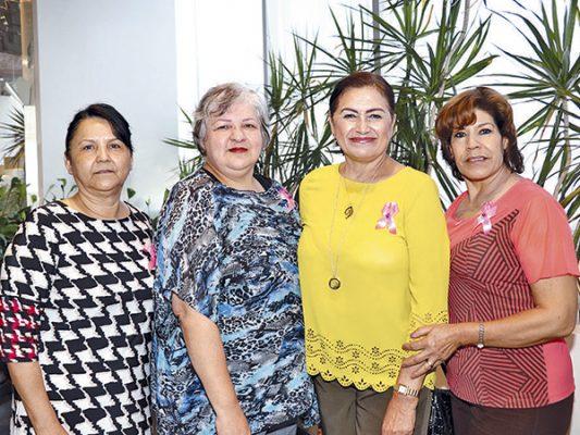 Guadalupe López, Ligia Puente, Dora Escalante y Lourdes Ruiz.