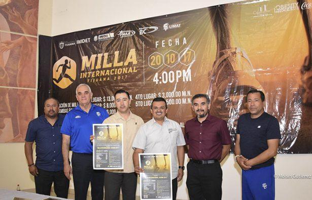 Invitan a participar en la Carrera La Milla Internacional Tijuana 2017