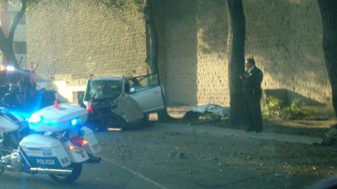 Aparatoso choque de autos en Vía Rápida