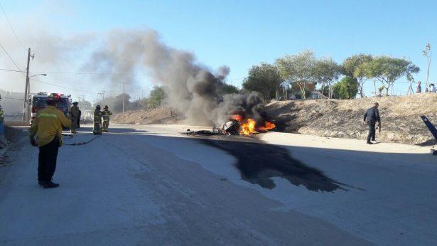 """Cae helicóptero """"Pegaso"""" de la policía municipal de Tijuana"""