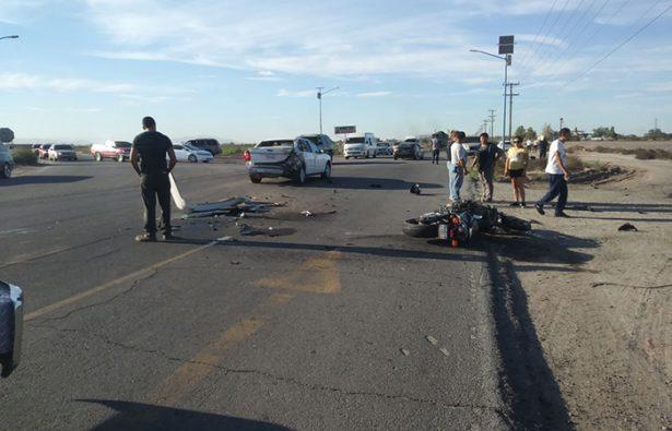 Mueren ciclista y motociclista en accidentes en el valle