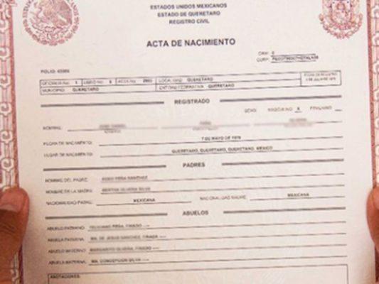 Pueden Mexicanos obtener Acta de Nacimiento en EUA