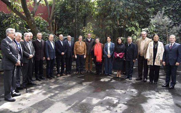 José Antonio Meade se reúne con exlíderes nacionales del PRI