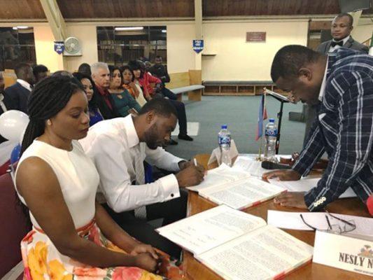 Se casan 8 parejas haitianas; ya han registrado a 39 niños