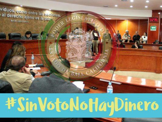 Interponen amparo contra congreso por Sin Voto no hay Dinero