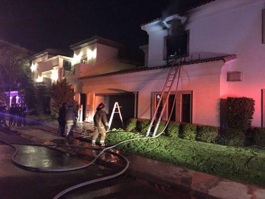 Se incendia residencia en San Pedro