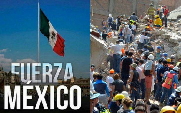 Tras la tragedia del sismo, el país resurge de las cenizas y nace #FuerzaMéxico
