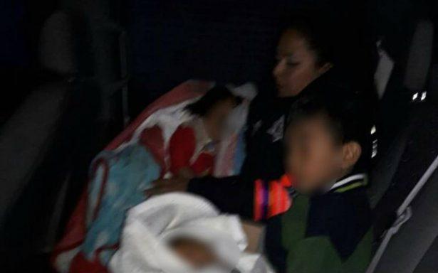 Detienen en Ecatepec a pareja guatemalteca por supuesto maltrato a sus hijos