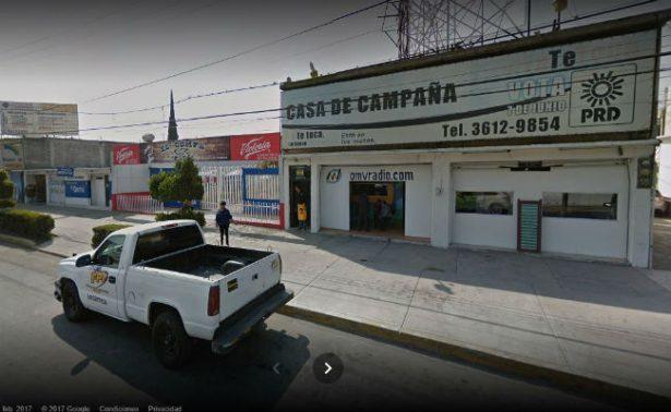Asalto a oficinas del PRD en Ecatepec deja un herido de bala