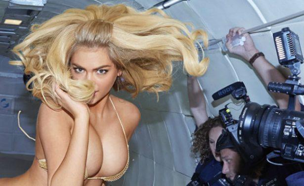 Kate Upton recuerda desafío en gravedad cero en sexy bikini