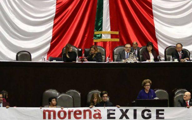 Diputados de Morena exigen a los del PRI disculpa pública por el grito de 'eehh pu&%'