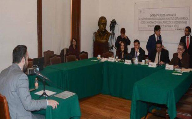 Asamblea Legislativa inicia renovación de comisionados en el Infodf