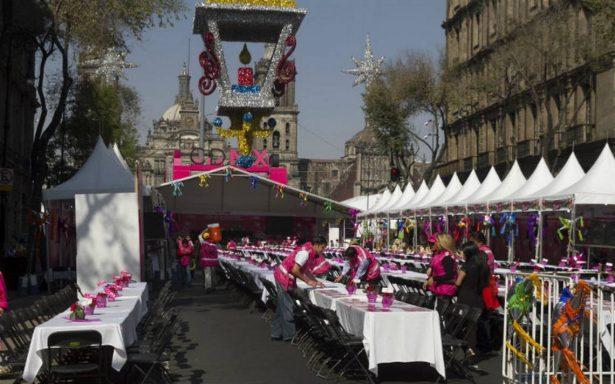 Listo el menú de las cenas de Navidad en el Zócalo y las delegaciones