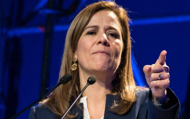 Anaya es quien beneficia al PRI y a AMLO: Zavala