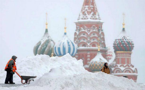 [Fotos] Moscú afectada por su mayor nevada en 100 años