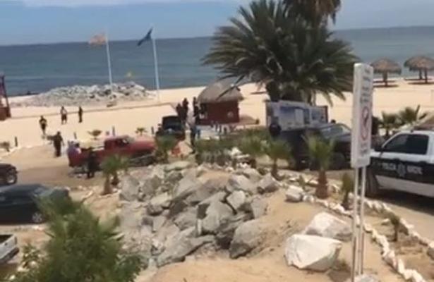 [Video] Balacera en una playa de Los Cabos deja 3 muertos