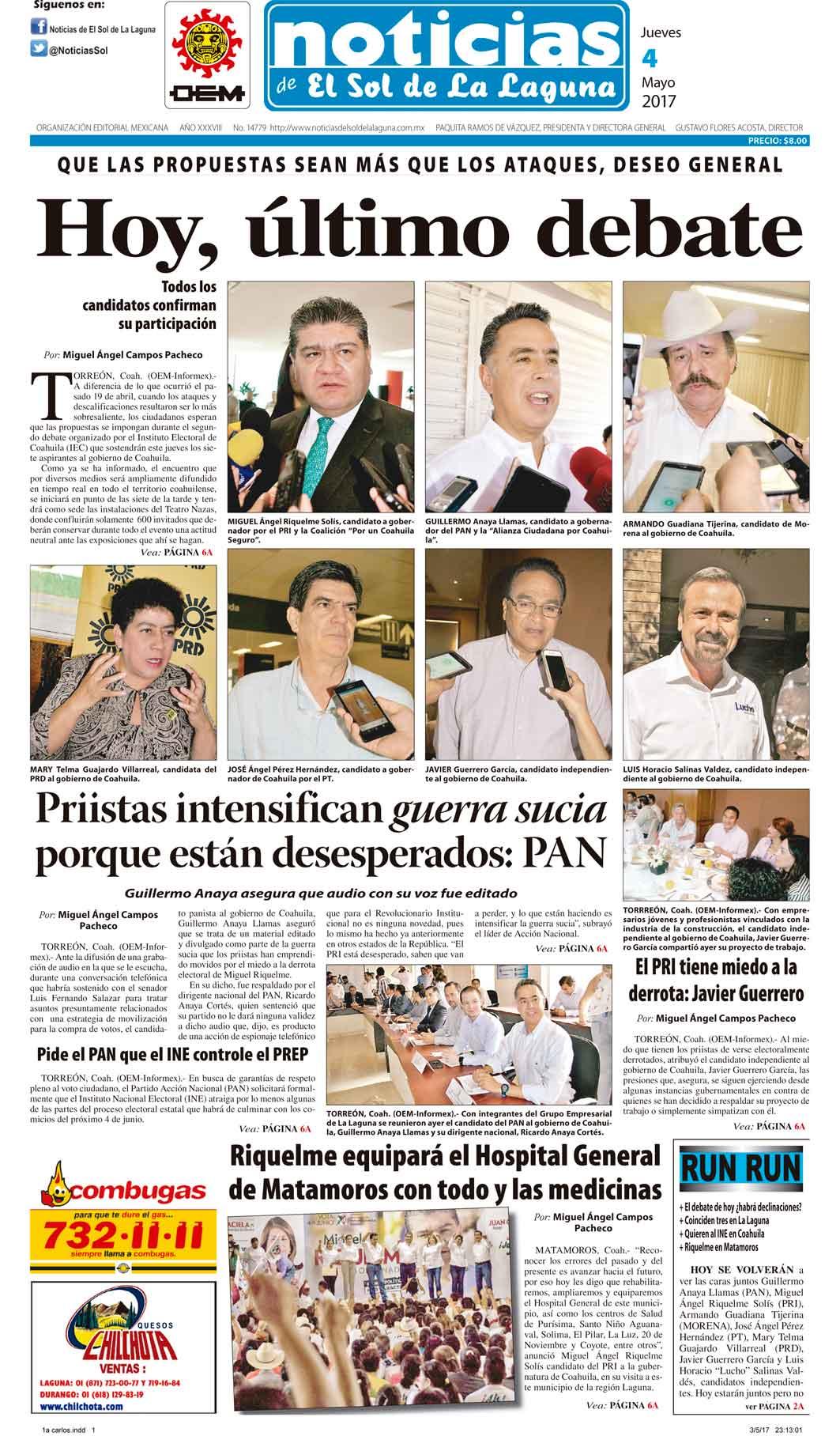 Portada de hoy for Noticias de hoy espectaculos