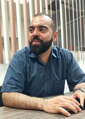 Hirám Brahím López Manzur, dirigente del PVEM en Gómez Palacio.