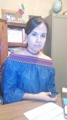 Guadalupe de Hoyos, directora de la primaria Miguel Hidalgo.